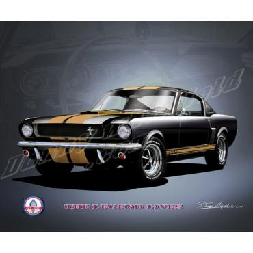 Mustang Shelby GT350  ''HERTZ'' Carol Shelby Tribute Fine Art Print By Danny Whitfield, 1966