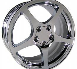 Firebird 18 X 9.5 Corvette C5 Style Reproduction Wheel, Chrome, 1993-2002