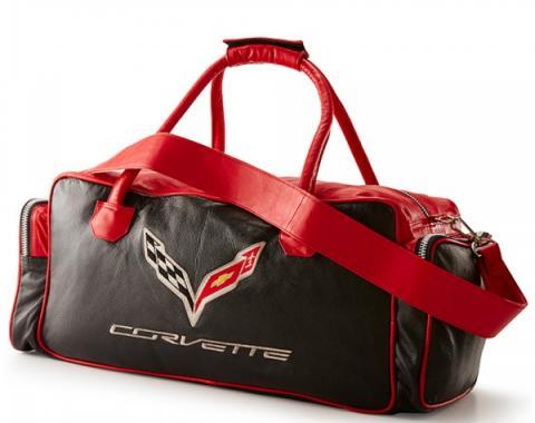 Corvette C7 Duffle Bag - Black/Red