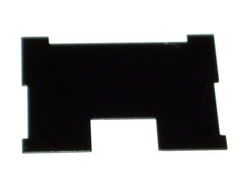 Chevy Heater Plate, Deluxe, Back, 1957