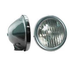 Model T Ford Headlights - Complete Assemblies - Chrome Buckets With Chrome Rims For Bar Mounting