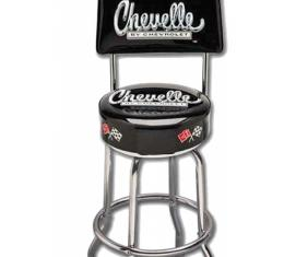 Chevelle Bar Stool, With Back, Chevelle By Chevrolet