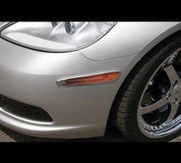 Corvette Side Marker Light Covers, Billet Chrome, 4-Pieces,2005-2013