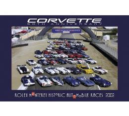 "Corvette Official Race Track Poster For The ""Corvette 50th Anniversary"" At Monterey 2002"