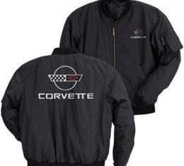Corvette Jacket, Aviator, Black, With C4 Logo