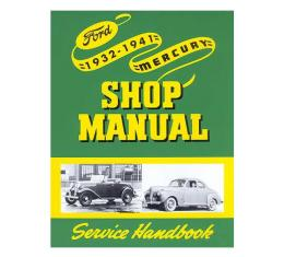 Shop Manual - Ford & Mercury Passenger & Pickup - Also Lincoln Zephyr - 8-1/2 X 11 Soft Bound Book - 233 Pages