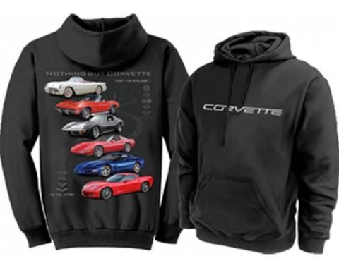 Corvette Hoodie Sweatshirt, Nothing But Corvette