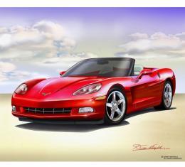 Corvette Fine Art Print By Danny Whitfield, 16x20,  2005 - 2013