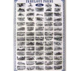 Fabulous Fords Poster - 25 X 37