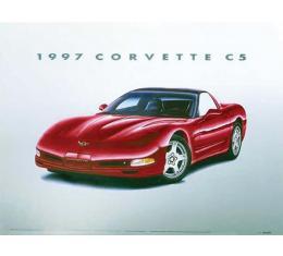 1997 C5 Corvette Print By Hugo Prado