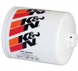 K&N Oil Filter, Long, Screw-On, Performance Gold| HP-3002 Corvette 1956-1991
