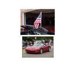 Corvette Flag Caddie, Windshield, Convertible, 2005-2011