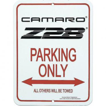 Camaro Z28 Parking Sign With 3rd Generation Logo