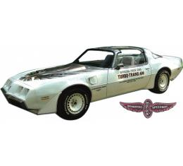 Firebird Decal Set, Silver, Trans Am, Turbo, Indy Pace Car Kit, 1980