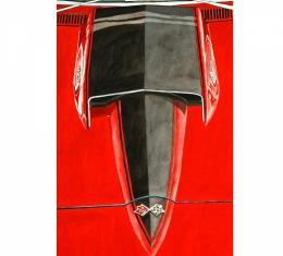 Corvette The Red Stinger, Fine Art Print By Dana Forrester, 11x17