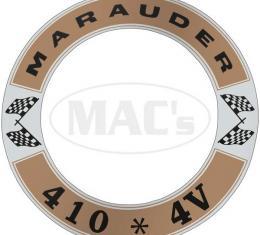 Air Cleaner Decal - Marauder 410 *4V