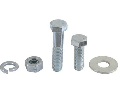 Model A Ford Luggage Rack Adapter Bracket Mounting Bolt Set- Zinc Plated