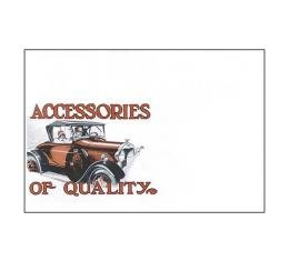 Accessories Of Quality - Model A Accessory Brochure