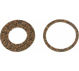 License Plate Light Lens Gaskets - Two Piece Set - Ford & Mercury Except Sedan Delivery & Station Wagon