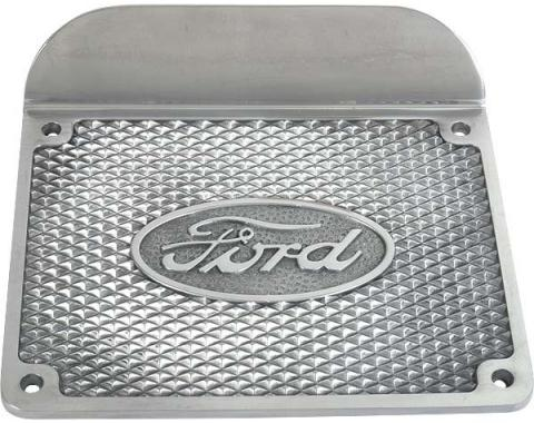 Model A Ford Step Plate - Ford Script In Oval - Aluminum - 6-1/2 X 8-1/2