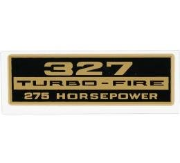 Full Size Chevy Valve Cover Decal, 327ci/275hp Turbo-Fire, 1958-1964