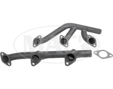 Tubular Exhaust Headers - Plain Steel - Flathead V8 - Ford & Mercury
