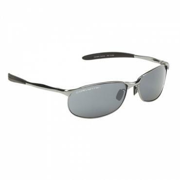 Corvette Eyewear®  Classic Metal Series, Gunmetal Frame, Smoke Flash Mirror Lens