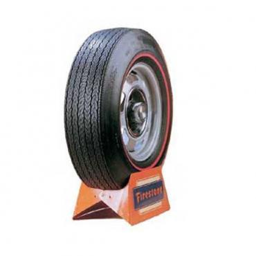 Chevelle Tire, Firestone Wide Oval, F70X15, Redline, All Years