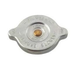 Radiator Cap - Reproduction - 13 Lbs. - Zinc Plate - Autolite Logo - Ford & Mercury