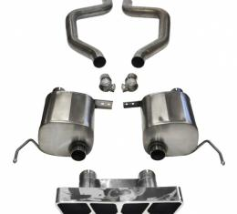 Corvette (Z06) Corsa Performance Exhaust System, Sport, 2.75'' Axle-Back, Polygon ''Tail Light'' Polished Tips, 2015-2017