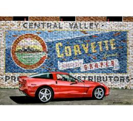 Corvette Red Frigate, Fine Art Print By Dana Forrester, 11x17