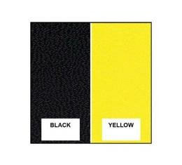 Upper Quarter Trim Panel Covers - Black & Yellow Two Tone -Ford Victoria - Body Style 60B