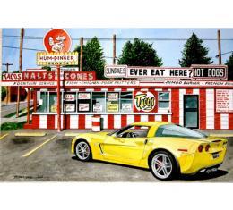 Corvette The Humdinger, Fine Art Print By Dana Forrester, 11x17