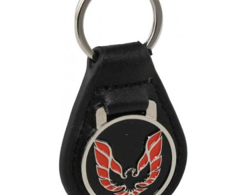 Firebird Key Ring, Black With Red Logo