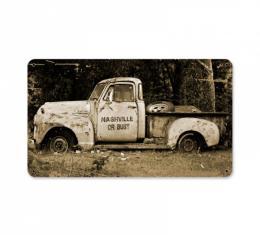 Truck Metal Sign, Nashville Or Bust