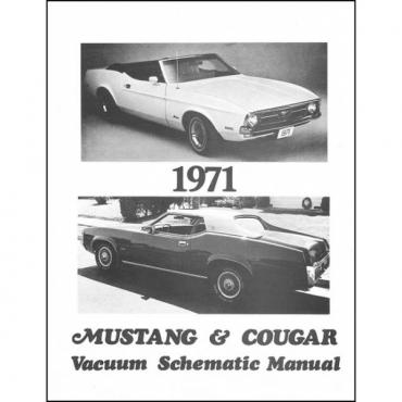 Mustang And Cougar Vacuum Schematic Manual - 3 Pages - 1 Illustration