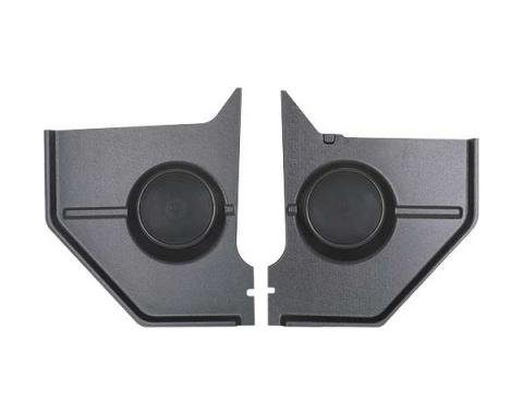 Custom Autosound Ford Mustang Kick Panels with 80 Watt Speakers, Coupe And Fastback, 1964-1966