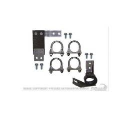 Ford Mustang exhaust hanger kit, dual exhaust mount kit 2.25 inches - OEM 1971-73