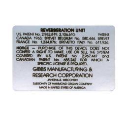 Radio Reverberation Unit Decal