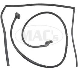 Ford Weatherstrip Door Channel Belt Seal Kit,Upper And Lower Driver Side,With Molded Ends, 1966-1977