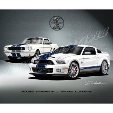 Mustang Carroll Shelby Tribute The First, The Last Fine Art Print By Danny Whitfield