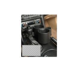 Corvette Two-Drink Holder/Cell Phone Holder, Console, Carbon Fiber Gray Vinyl, Plug & Chug, 1997-2004