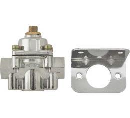 Fuel Pump Pressure Regulator - Holley - Chrome Housing - 1-4 PSI - 3/8 NPT - Ford