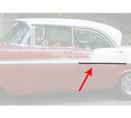 Chevy Rear Door Molding, Bel Air, Left, For 4-Door Hardtop, Show Quality, 1956