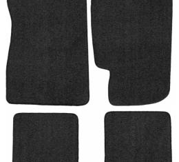 Front And Rear Floor Mat Set, No Logo, Fairlane, 1966-1969