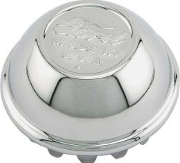 Model A Ford Hub Cap - Nickel Plated - Early 1928 - Ford Script With Made In USA - Show Car Top Quality