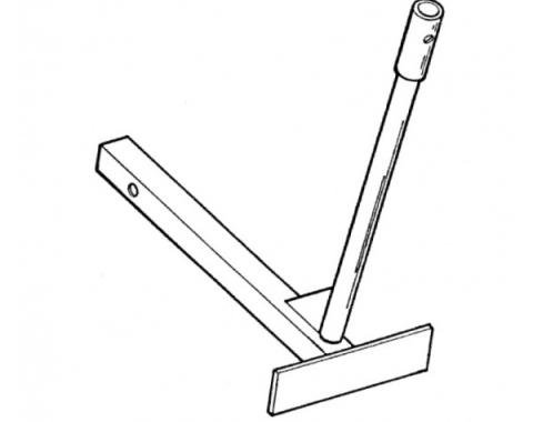 """Parade Flag Holder, Single Flag, Standard Length, Fits into2"""" Square Hitch Opening"""