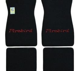 Firebird Carpet Floor Mat Set, Embroidered, 1967-1973