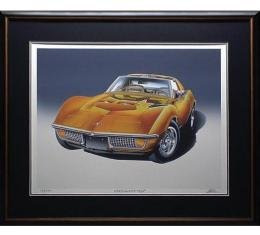1972 Corvette 454 Ontario-Orange Print By Hugo Prado