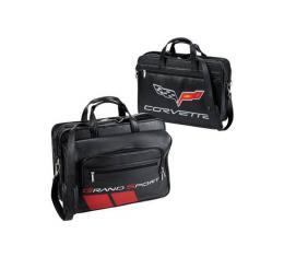 Corvette Grand Sport Brief Case, Inlaid Leather, Black